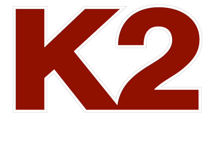 K2 logo white